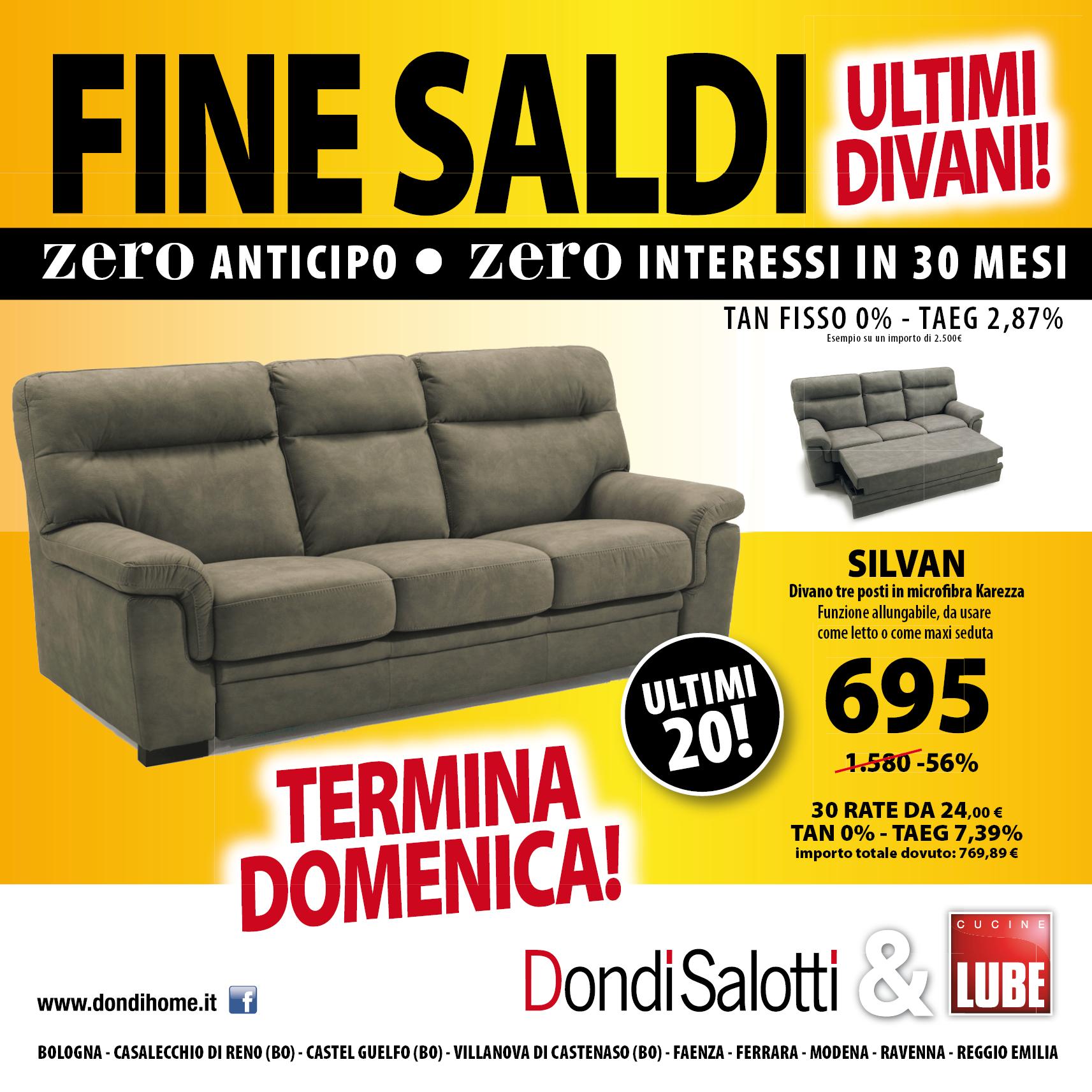 FINE SALDI - zero anticipo zero interessi - Dondi Home - Reggio ...