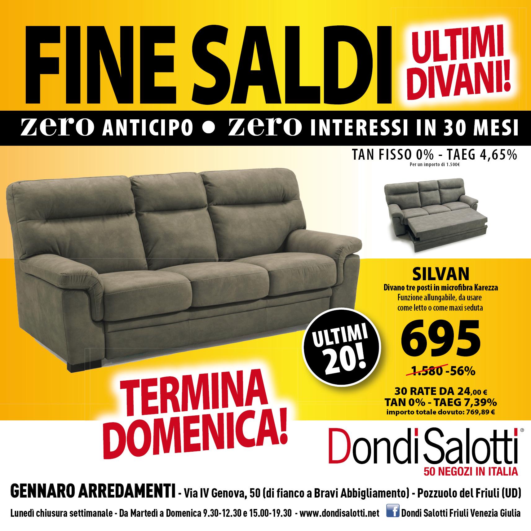 FINE SALDI – ZERO ANTICIPO ZERO INTERESSI – DONDI SALOTTI ...