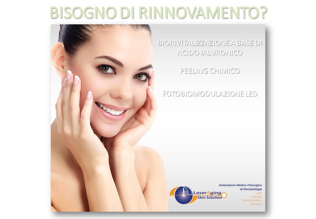 Biorivitalizzazione Led Peeling Laser Aging Skin