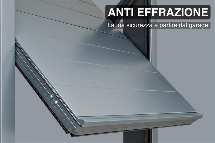 Porte basculanti per garage de nardi panizza sistemi di - Basculante con porta pedonale prezzo ...