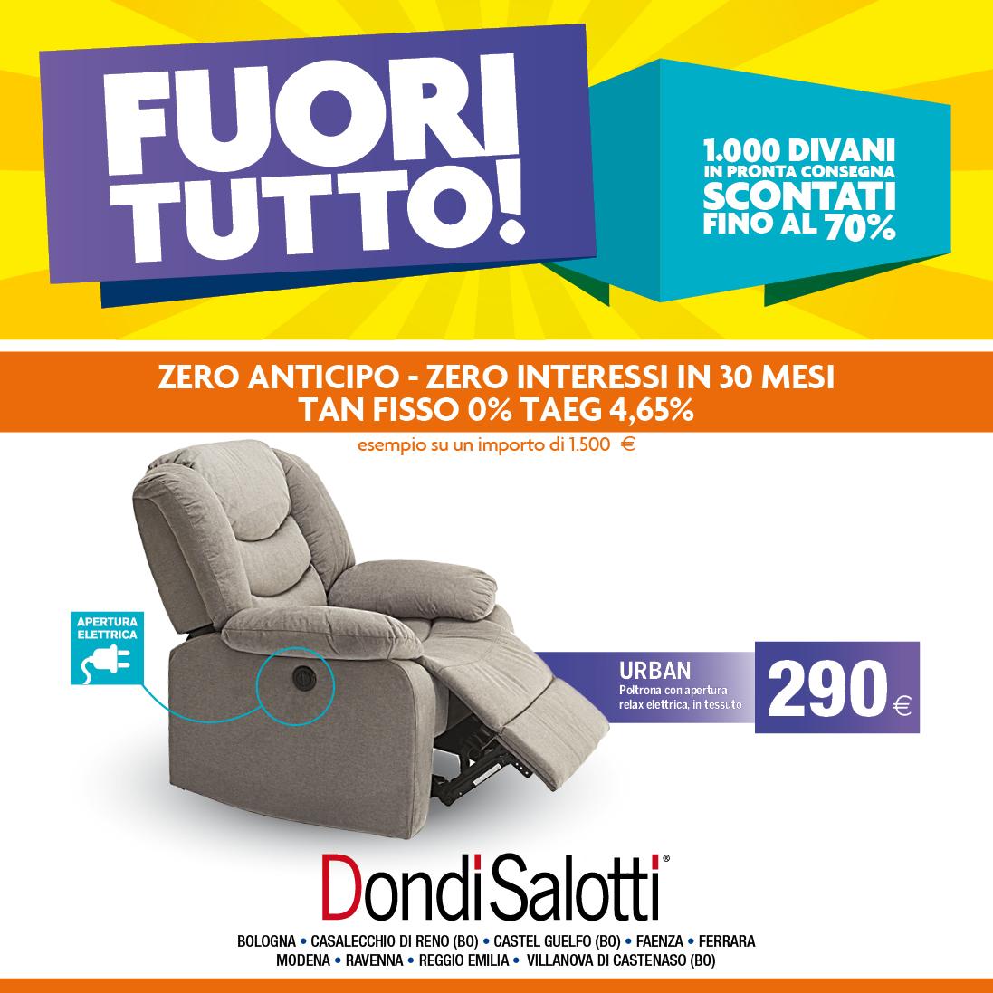 FUORI TUTTO - Zero anticipo e Zero interessi - Dondi Home - Rimini ...