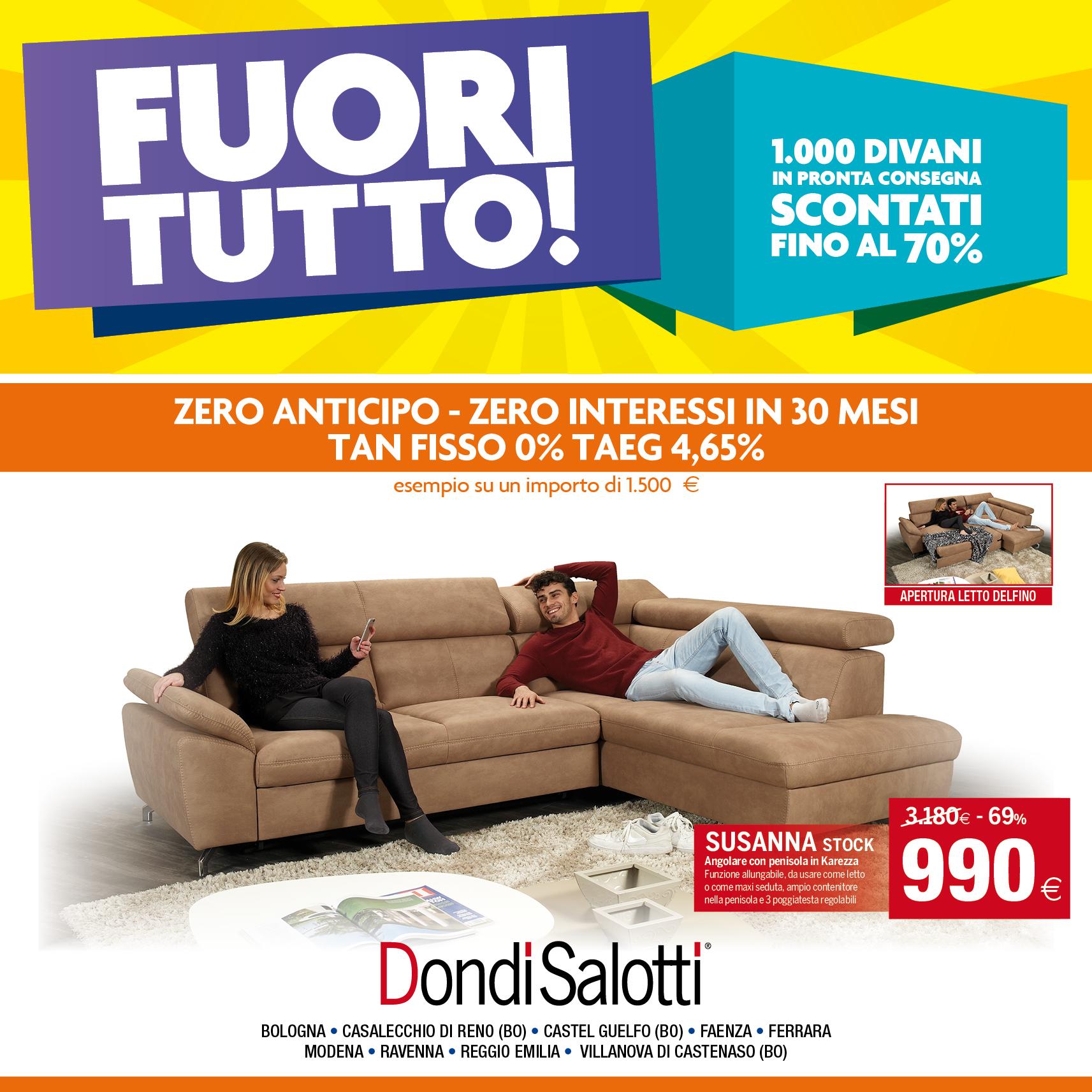 FUORI TUTTO - Zero anticipo e Zero interessi - Dondi Home - Reggio ...