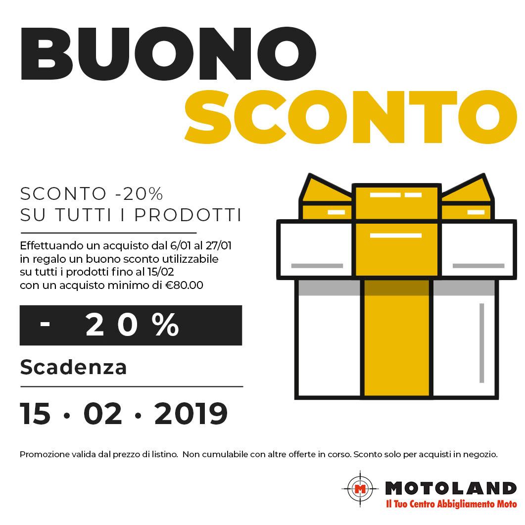 Sconti Motoland 2019