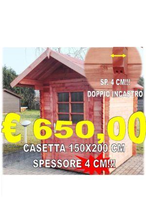 CASETTA IN LEGNO INCASTRO 150X200 CM SPESSORE 40 MM – FERRARA – COMACCHIO – BY IDEA LEGNO SRL