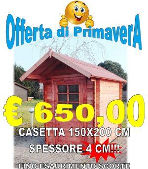 CASETTA IN LEGNO 150X200 CM SPESSORE 40 MM