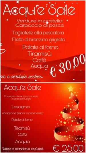 """Cenone di natale al ristorante italiano """" acqu'e sale a old market,  Sharm el sheikh"""