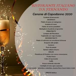 Cenone di Capodanno al ristorante italiano da Fernando,  old market,  sharm el sheikh