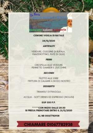 📢 Super Menù per la Vigilia di Natale…🔝🔝🔝📢  Vieni Da Mauro solo pasta e pizza a hadaba a gustare il nostro SUPER MENÙ DI NATALE ad un prezz