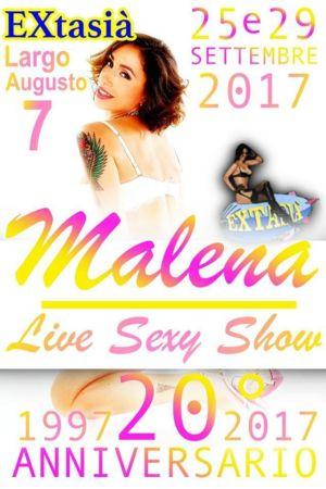 """20° anniversario EXtasià Milano con """"MALENA"""" nuova stella HARD di Rocco Siffredi"""