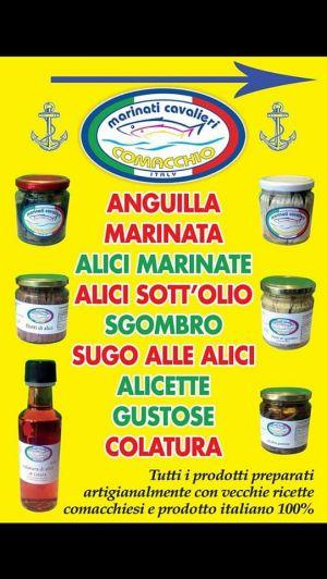 Vendita di pesce marinato a Porto Garibaldi, Ferrara, da Marinati Cavalieri