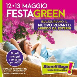 12 e 13 maggio Festa Green – STORE VILLAGE – Ferrara – Vigarano Mainarda