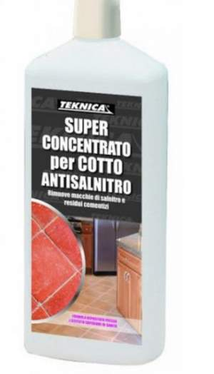 SUPER CONCENTRATO PER COTTO ANTISALNITRO -RAMPADO – FERRARA         Il super concentrato per cotto antisalnitro è un prodotto a base acida sp
