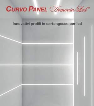 """PROFILI PORTA LED CURVO PANEL-RAMPADO-FERRARA    """"Armonia Led"""" è un innovativo programma per la creazione di suggestivi effetti luminosi impiegando"""