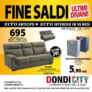 SALDI zero anticipo zero interessi – Ferrara – Dondi City