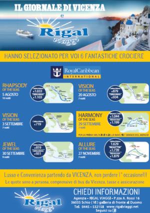 FANTASTICHE CROCIERE ALLA RIGAL VIAGGI – Schio – Vicenza – Rigal Viaggi