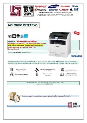 noleggio multifunzione Panasonic stampante fotocopiatore fax scanner