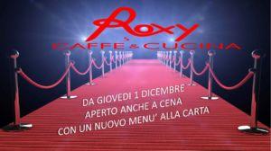 Apertura serale con nuovo menù – Vicenza – ROXY CAFFE