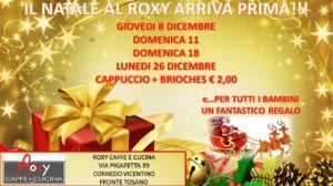 SPECIALE NATALE CAPPUCCIO+BRIOCHES A € 2,00 – VICENZA – ROXY CAFFE