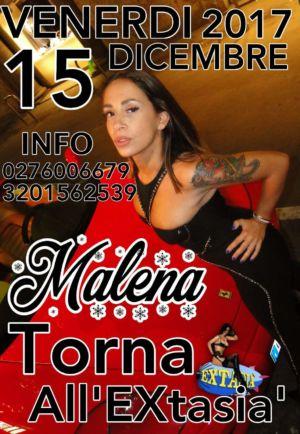 Natale con Malena all' Extasia di Milano