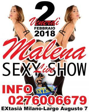 Sexy Show con Malena all'Extasia di Milano