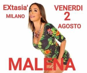 Super ospite Malena all'Extasia` di milano