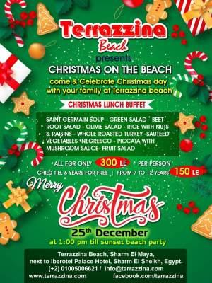 Pranzo di Natale in spiaggia del terrazzina beach a sharm el sheikh
