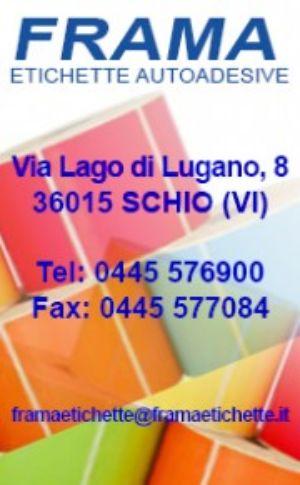 Etichette in modulo Padova