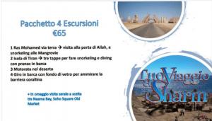 Pacchetto 4 escursioni con agenzia IL TUO VIAGGIO A SHARM