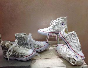 Converse customizzate-Swaroski- Glitter- New Sneakers-Lido degli Estensi-Ferrara