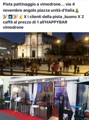 Pista pattinaggio +Happybar – Milano – Vimodrone – HAPPY BAR