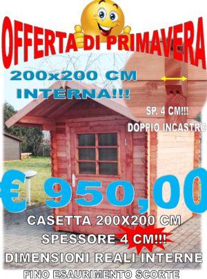 CASETTA BLOCK HOUSE 200X200 CM SPESSORE 40 MM – FERRARA – COMACCHIO – IDEA LEGNO SRL