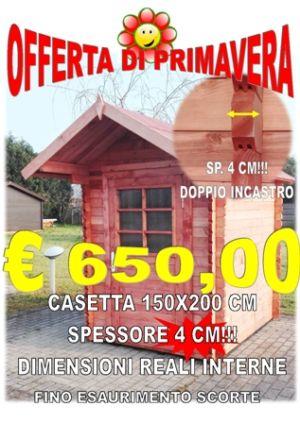 CASETTA LEGNO INCASTRO 150X200 CM SPESSORE 40 MM – COMACCHIO – FERRARA – IDEA LEGNO SRL