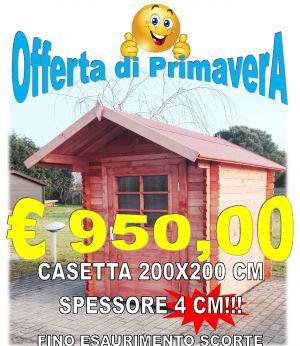 CASETTA IN LEGNO 200X200 CM SPESSORE 40 MM