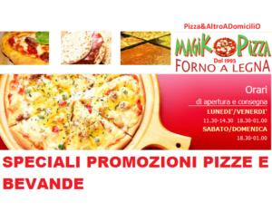 BEVANDA GRATIS A PRANZO  da Lun a Ven ORE 12 – Ferrara – Magik Pizza