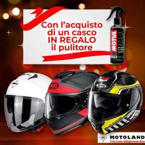 Fino al 20 Dicembre  Se acquisti un casco    INTEGRALE      MODULARE      JET      CROSSOVER      CROSS    ricevi in regalo il pulitore    MOTUL MC C