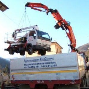 Servizi di autotrasporto con Gru – Verona – Autotrasporti De Gerone