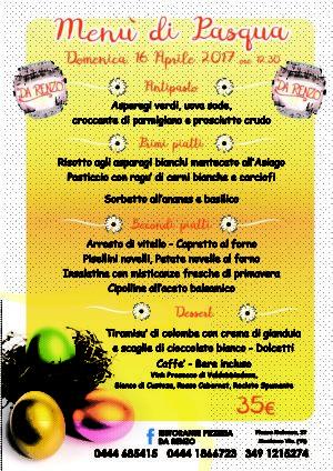 Pranzo con menù di Pasqua – Vicenza – Montorso – Ristorante Pizzeria da Renzo