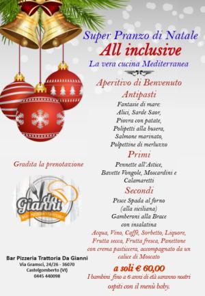 Ristorante con menù di Natale – Vicenza – Ristorante Pizzeria da Gianni