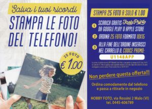 "OFFERTA STAMPA FOTO 10×15, NUOVA APP ""fast print"", Hobby Foto Malo (VI)"
