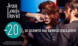 SUPER PROMO -20% di sconto sui servizi esclusivi – FERRARA – Parrucchieri Jean Louis David