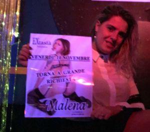 Spettacolo sexy con Malena all' Extasia a Milano