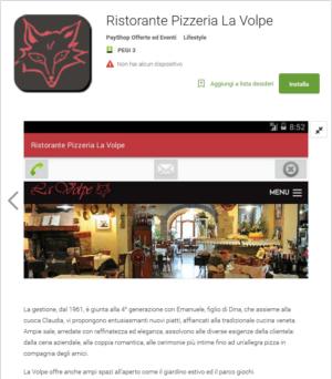 """Nuova App Pizzeria la Volpe – Padova – Montegrotto Terme – Ristorante Pizzeria """"La Volpe"""""""