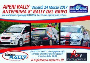 Venerdì aperi rally vi aspettiamo …… Ricco buffet per tutti…. – Cornedo Vicentino – Vicenza – Roxy Caffe