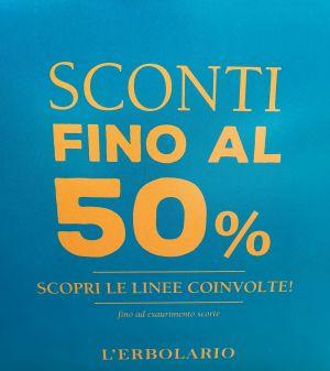 SCONTI FINO AL 50% L'ERBOLARIO !