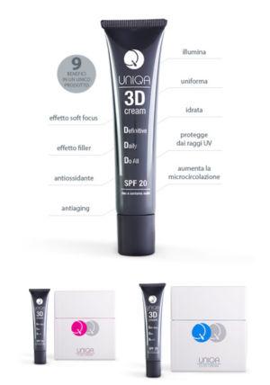 Prodotti cosmetici Uniqa 3D Cream – Vicenza – Isola Vicentina, Malo, Costabissara – PROFUMERIA-ESTETICA DE MARCHI SABRINA